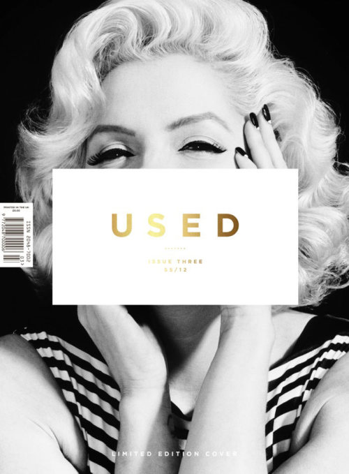 Used Magazine, Spring Summer 2012, cover (+) photographer: Nik Hartley Suzie Kennedy as Marilyn Monroe // an-aesthete:magazinewall
