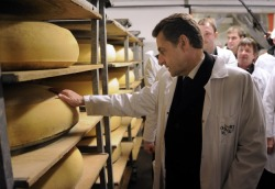 In France, leaders don't just leer at cheese, they caress it.