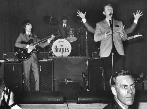 Red Robinson introduces the Beatles at Empire Stadium, Vancouver  - Aug. 22, 1964
