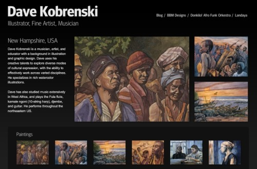 Updated portfolio of my artwork - http://davekobrenski.com