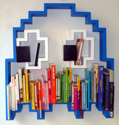Pac-man Ghost Bookcase