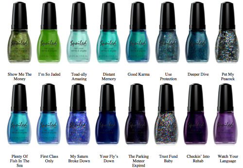 "astylistsnotes:  ""Spoiled Nail Color"" Made by Wet n' Wild Exclusively for CVS may be one of the nail industries best kept secret!! Are you girls constantly trying on different nail colors and styles? If you are anything like me, you are color obsessed. This collection is AMAZING. With 72 different color options and at only $1.99 a bottle you can afford to change your nail color ever day! From dark luxurious colors to bright neon ones, this collection has something for everyone. I personally love the neon green ""Did I Dye it too Blonde"" color. I feel its the perfect nail accessory for summer. The polish comes on thick and after two coats you cant tell the difference between this brand or higher end nail brands (no names necessary). The only down side to this polish is their brushes. They aren't necessarily the best quality and take a little bit more effort to apply neatly. Are you going to try out this polish?"