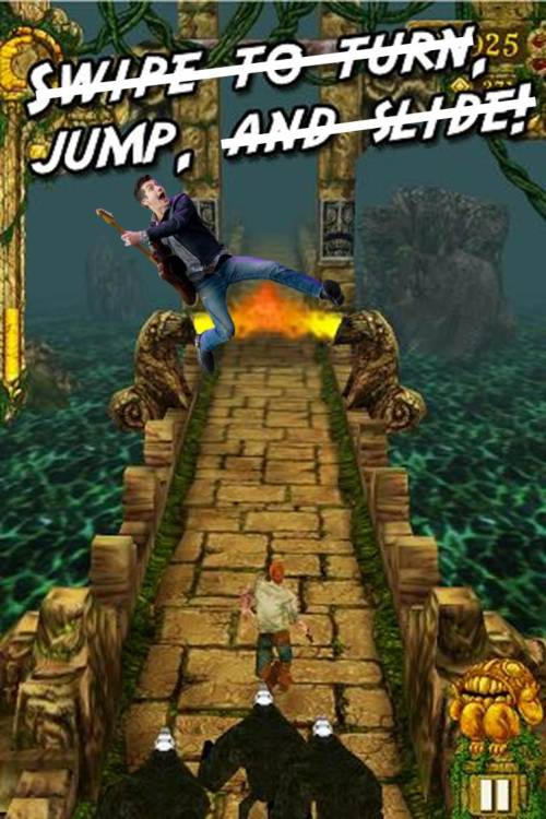 Alex… in Temple Run?
