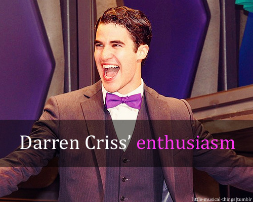 little-musical-things:  Darren Criss' enthusiasm. Submitted by:ohmyadorkabledarrencriss