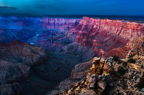 mountainish:  Twilight at Navajo Point (by GeorgeOfTheGorge)
