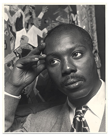 archivesofamericanart:  Jacob Lawrence, looking pensive. Jacob Lawrence, 1957 / Alfredo Valente, photographer. Alfredo Valente papers, Archives of American Art, Smithsonian Institution.
