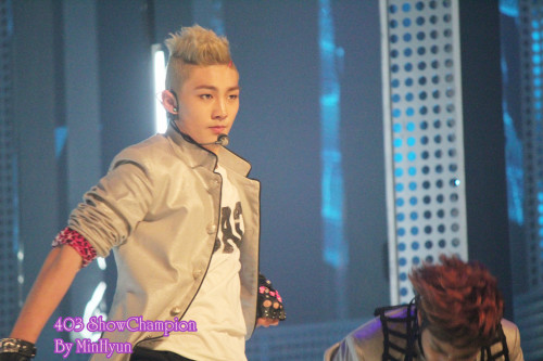 [FANTAKEN] Baekho's Photo @ NU'EST Performance At MBC Music Show Champion 120403 Cr: MIN MIN