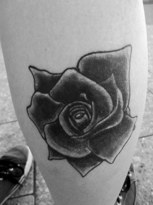 And my rose tattoo, on my right calf. It's handy having a photographer as a best friend!