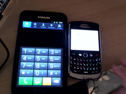 my new and old phones ahaha