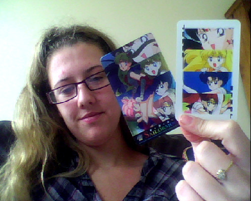 These are my Sailor Moon playing cards, i do use them but am very carefull with them >D