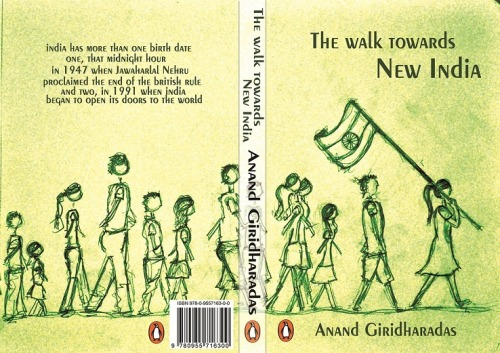 Prototype front and back cover design for Anand Giridharadas book, The India Calling.