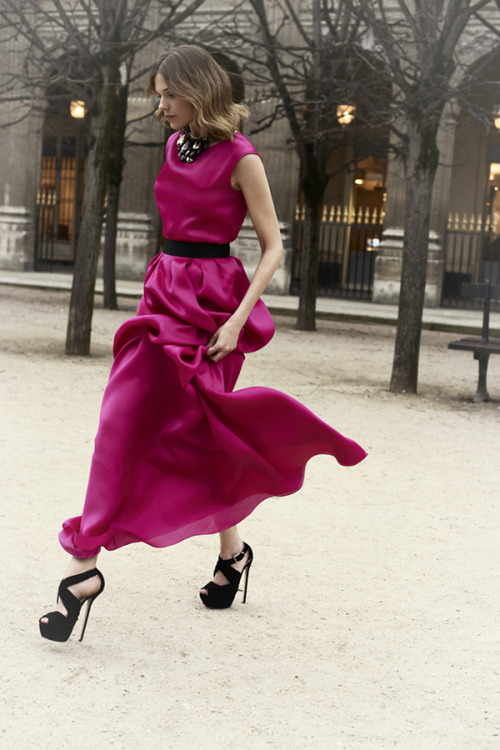 Love the shoes..love the fuchsia