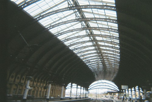 The top of York train station…