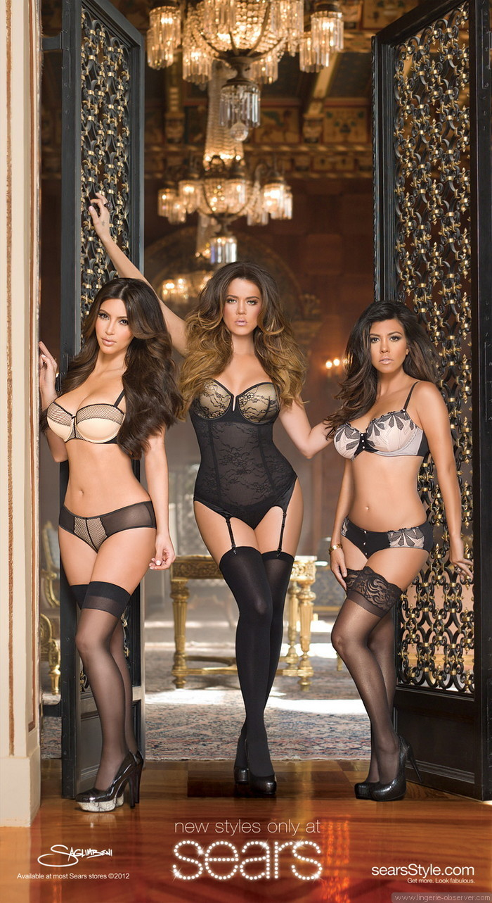 Kardashian Intimates Sears Ad by Nick Saglimbeni