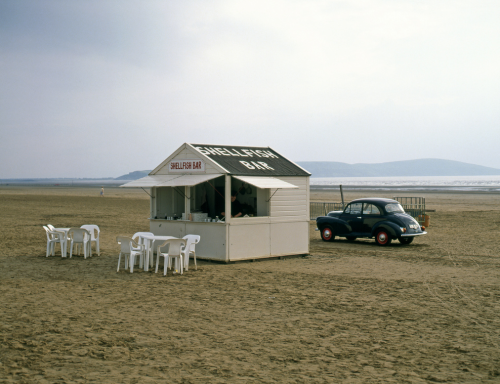 A shellfish bar on the beach at Weston-super-Mare in the West of England Innis McAllister