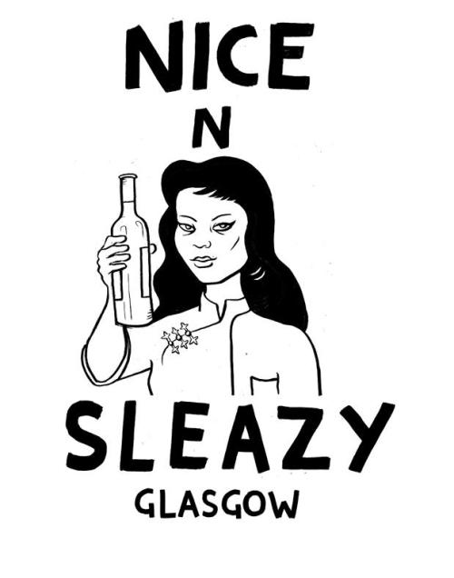 eerieerin:  T-shirt/bag design for Nice and Sleazy