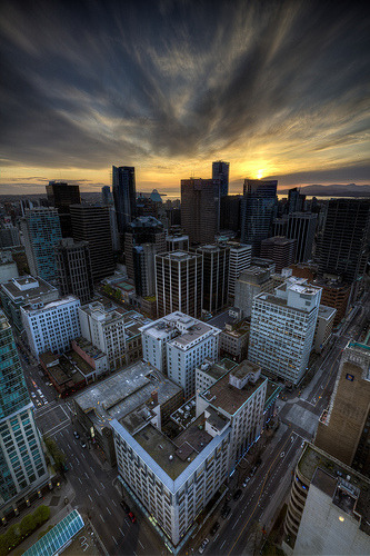 Downtown sunset (by Basic Elements Photography)