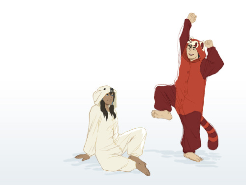 aww! i want a pabu kigurumi! <3another sweet Borra moment <3