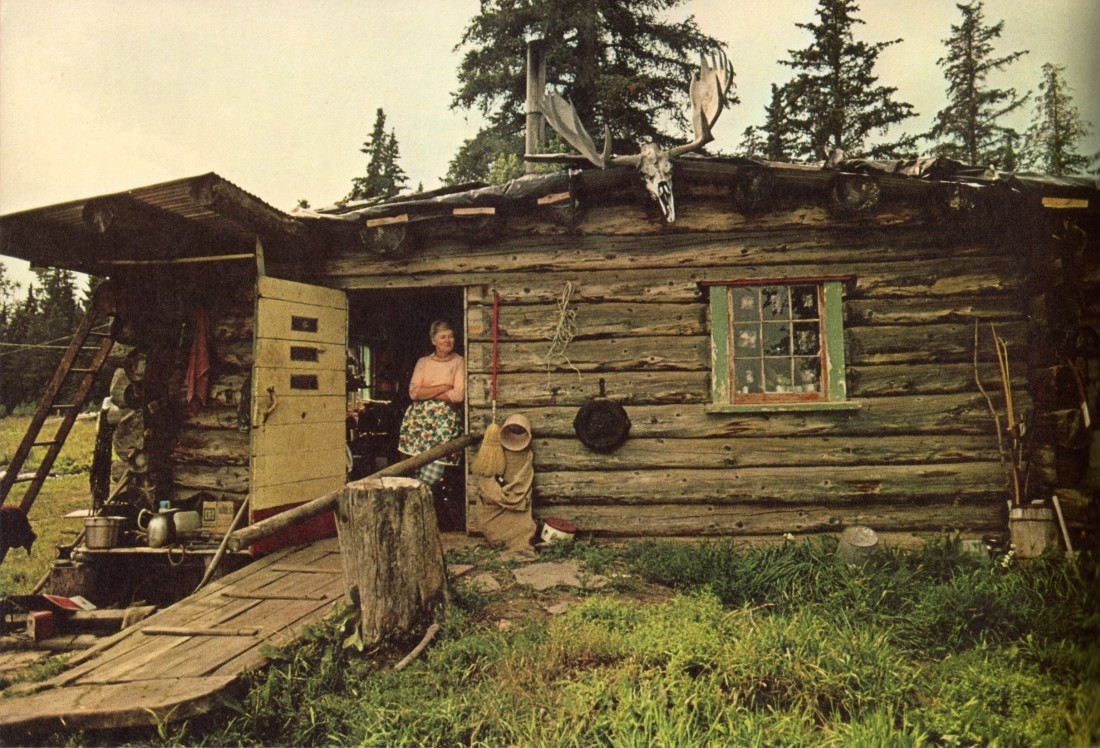 cabinporn:  Log cabin in rural Nebraska, 1974. Via Emma Brooke. Photographer unknown.