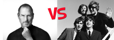 POLL: Who has had a bigger impact on society and culture? A) Steve Jobs B) The Beatles Click here, or click on the picture to vote for your choice! S