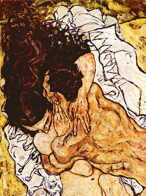 Egon Schiele, The Embrace (detail)