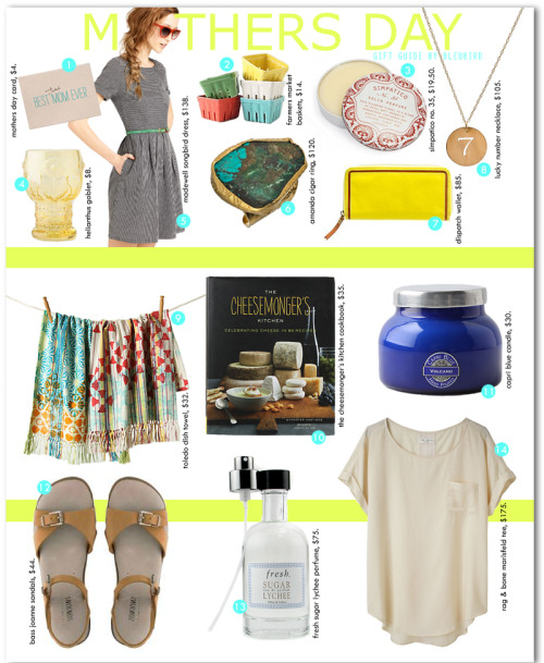 I just adore this Mother's Day Gift Guide by Miss James.