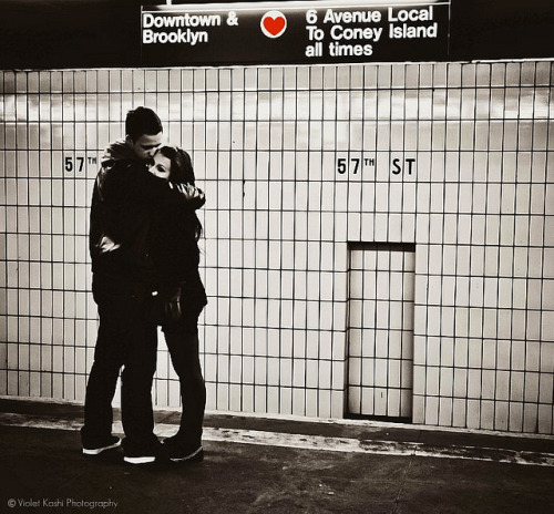 Subway Love by Violet Kashi on Flickr.Via Flickr: Love is everywhere in the big city. ♥ Underground candid shot.© All rights reserved, don't use my pictures without permission.