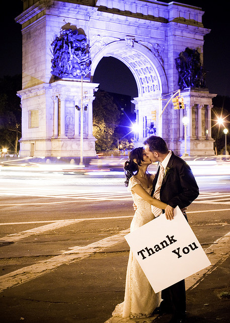 Wedding Bride Groom - Thank you Card - Brooklyn - NYC by smoothdude on Flickr.You're welcome