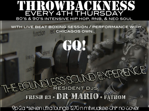 throwbackness thursday with live beat box performance and reggae styleeee with gq! get #theboundlesssoundexperience