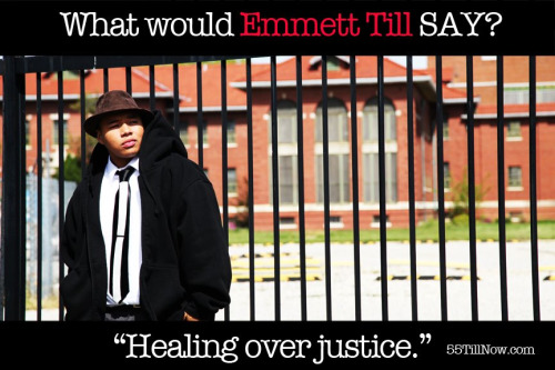 """What would Emmett Till say? Healing over Justice"" This is the brilliance of 55TillNow and the start of something so much larger than a film! I am honored to be a part of such a needed, timely, and revolutionary social movement. It starts with a story and the story is one of violence, racism, injustice and murder but also one of forgiveness and healing. I look forward to sharing the development process with you as we continue on this powerful journey but for now ask yourself….What would Emmett Till say? A young black man from Chicago visiting family in Mississippi in August of 1955 who was brutally murdered, thrown over a bridge and thought dead and gone forever. But the young man who floated defied the odds to be remembered as one of the greatest tipping points in Civil Rights history. What would he say about a nation still divided by injustice and inequality? Would he cry for justice or would he ask for healing? What would you say?  Join the conversation www.twitter.com/55TillNow www.55TillNow.com www.Facebook.com/55TillNow www.YouTube.com/55TillNow"