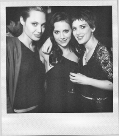 The Girl, Interrupted women - Angelina Jolie, Brittany Murphy and Winona Ryder.