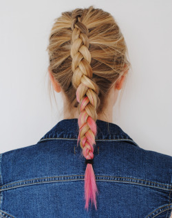 dip dyed french braid