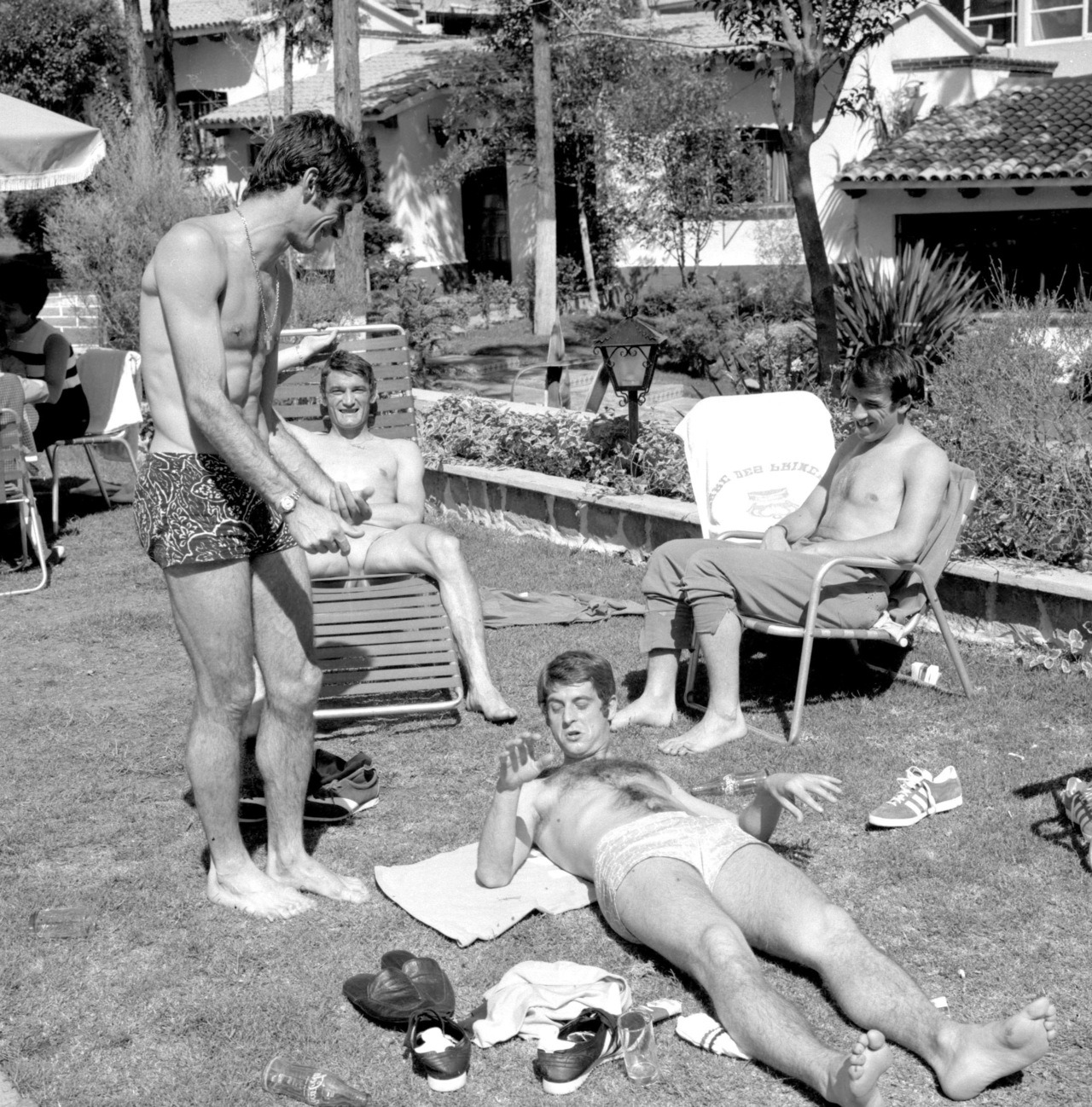 Gli Azzurri, relaxing at World Cup 1970.