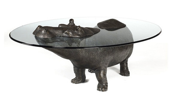 fourthisking:  hippopotamus table.