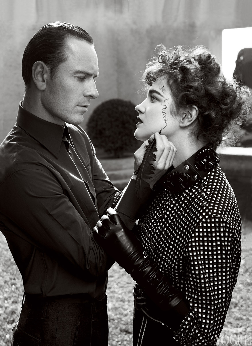 vogue:  Actor Michael Fassbender and Model Natalia Vodianova Photographed by Craig McDean for the May Issue of Vogue