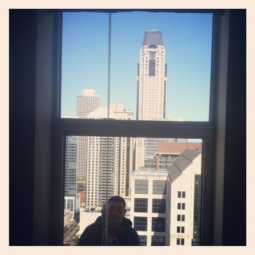 Busted a peeping Tom on floor 29 (Taken with instagram)