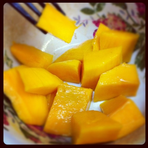 Oh sweet mango, why must you taste so delicous?! 😁 (Taken with instagram)