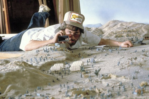 fuckyeahdirectors:  Steven Spielberg on the set of Raiders of the Lost Ark.