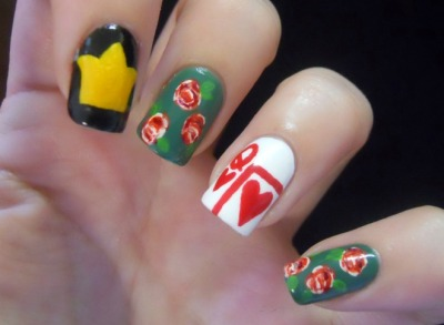Queen of Hearts manicure