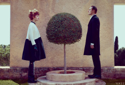 vogue:  Actor Michael Fassbender and Model Natalia Vodianova Photographed for the May Issue of Vogue