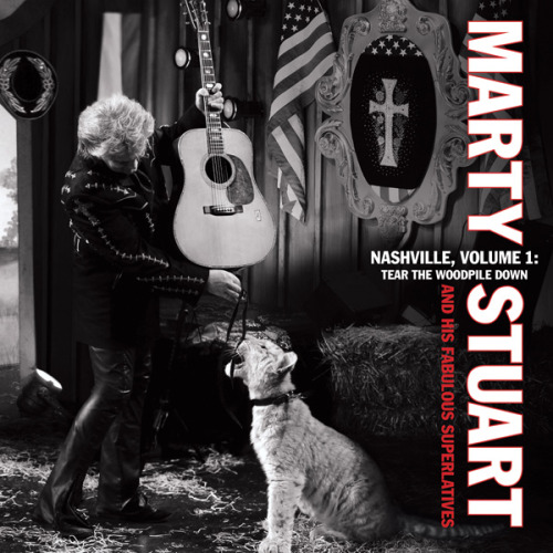Marty Stuart: Nashville Vol. 1, Tear The Woodpile Down Marty Stuart returns with this marvelous, if frustratingly brief, 30 minute album of traditional styled county originals. His appropriately named Fabulous Superlatives touring band is joined by a few guests, but this batch of wonderful songs that wrap themselves around oft-recorded C&W topics of truck driving, heartaches and lots of loneliness captures a rootsy groove that'll make you forget all of Nashville's slick qualities and love country and western all over again. In that sense it's a continuation of Stuart's career. The singer is in fine voice and seems inspired by this outlaw move to revive the time-honored music he loved when he first hit Nashville as an impressionistic kid in 1972.