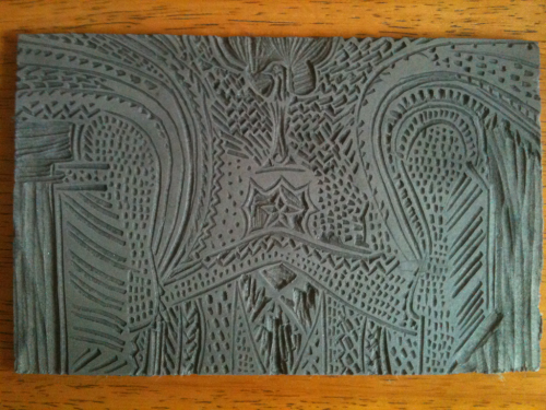 Traditional Kalinga Batok - Lino cut out