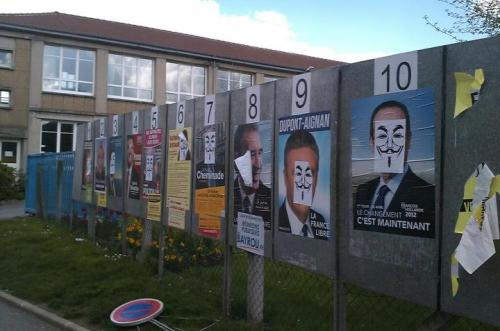 #lol l'affiche des candidats version anonymous