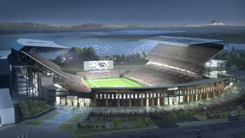 I can't wait to step foot in the new Husky Stadium. Stadium construction update.