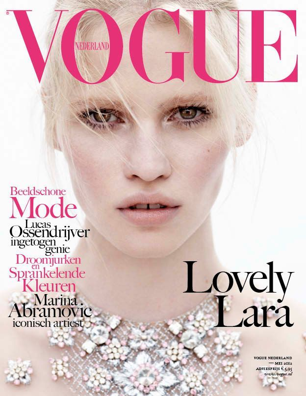 Lovely lovely  ladolcediva:  Lara Stone covers the second Vogue Netherlands (may) issue, photographed by Josh Olins