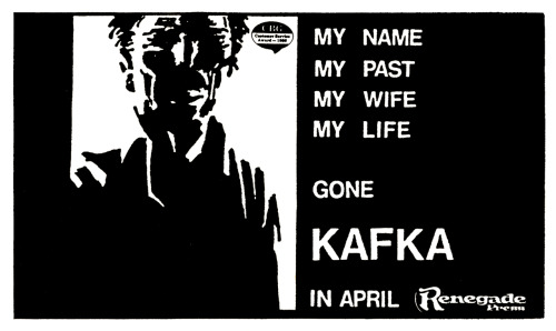 Promotional ad for Kafka by Steven T. Seagle and Stefano Gaudiano, 1987.