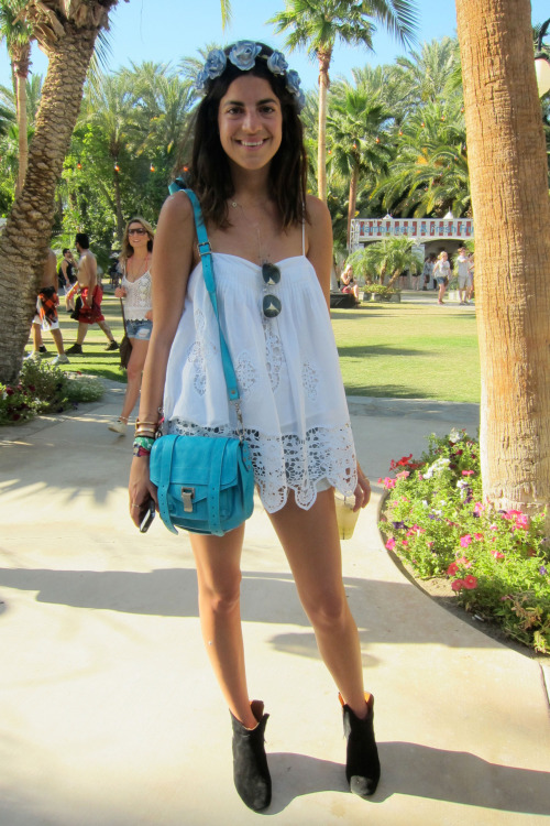 wgsn:   Look who we found at the last weekend of #Coachella - the gorgeous @ManRepeller Leandra Medine, channeling our key women's styling pick, Flower Child.  WGSN street shot.  SUBSCRIBERS CLICK HERE FOR THE FULL REPORT