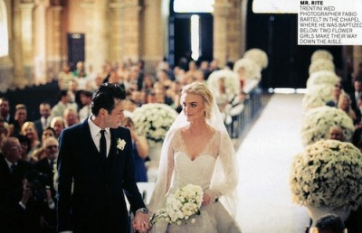 Caroline Trentini's Olivier Theyskens Wedding Gown [VOGUE]. This morning I tweeted about the glorious May issue of @voguemagazine and here is a quick snapshot of my reasoning. Glamour girl and fashion model, Caroline Trentini (24), was recently married in Brazil in an Olivier Theyskens design. Her gown seems to be heavily influenced by the McQueen Sarah Burton creation for the Duchess of Cambridge, which in turn was heavily influenced by Hollywood goddess turned Princess, Grace Kelly's wedding gown. It's absolutely fascinating to see all the small influences and the entirely original nuances. Caroline Trentini looked simply breathtaking- and I'm sure her husband would agree. Our most sincere congratulations! Xoxo