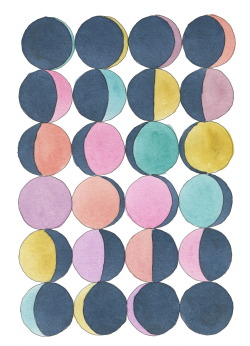 366sketchbook:  114/366 Moon Phases in Pastel
