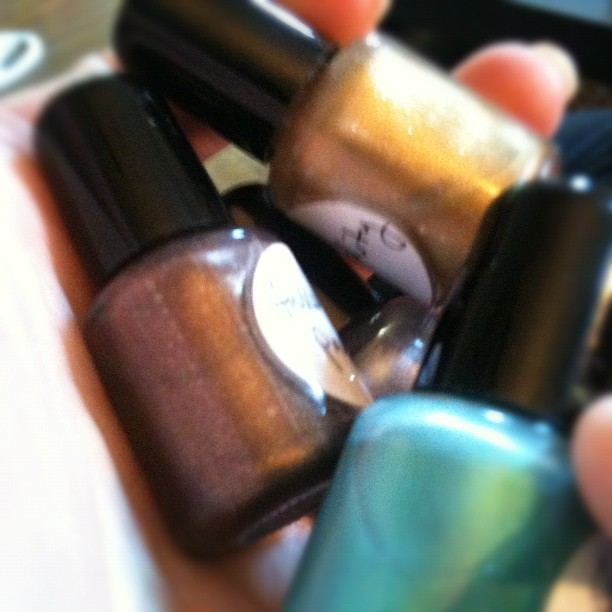 Hmmm.. Sent to me by a customer. Can't wait to try them out! #nailpolish #nails #sweetlibertine #beauty  (Taken with instagram)